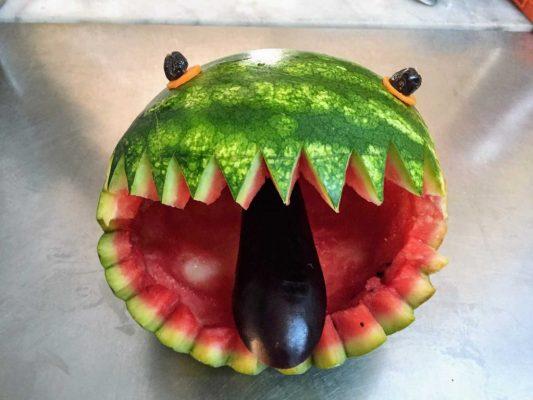 Meloen gezicht