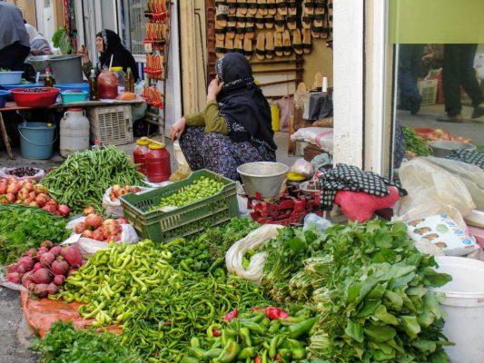 Veel verse groenten en fruit