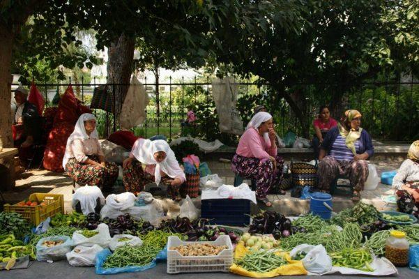Een foto van de markt