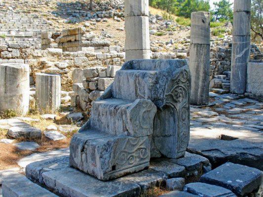 Foto van een ruïne tijdens een excursie