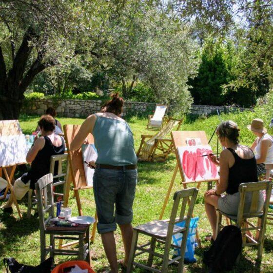 Een van de schilder workshops
